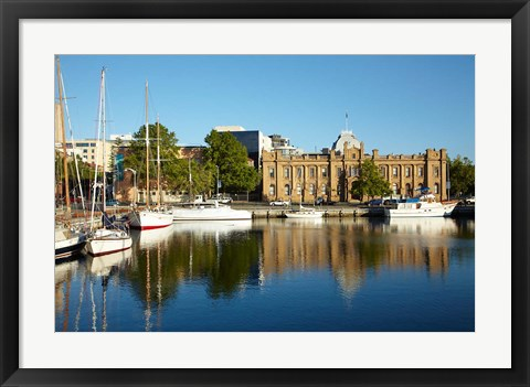 Framed Australia, Hobart, Museum and Art Gallery, Boats Print