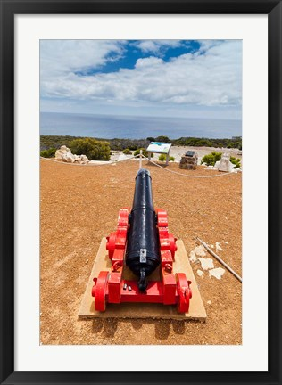 Framed Cape Borda Lighthouse, Kangaroo Island, Australia Print