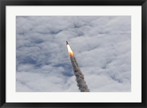 Framed Final Launch of Space Shuttle Atlantis Print