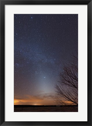 Framed Zodiacal Light and Milky Way over the Texas Plains Print