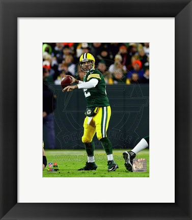 Framed Aaron Rodgers 2014 Green Bay Packers Print