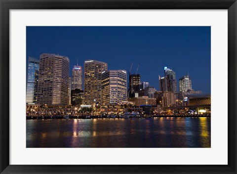 Framed Darling Harbour, Sydney, New South Wales, Australia Print