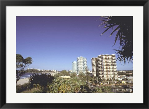 Framed High-rises, Coolangatta, Gold Coast, Queensland, Australia Print