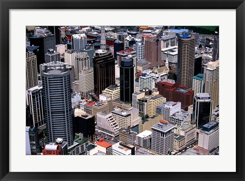 Framed Auckland skyscapers, New Zealand Print
