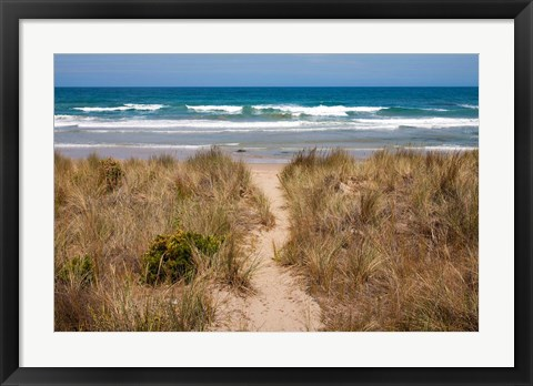 Framed Australia, Victoria, Great Ocean Road, Beach Print