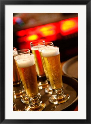 Framed Drinks, The Malthouse, Wellington, North Island, New Zealand Print