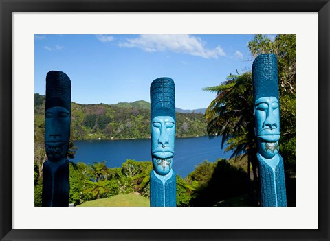 Framed Lochmara Lodge, Marlborough Sounds, New Zealand Print
