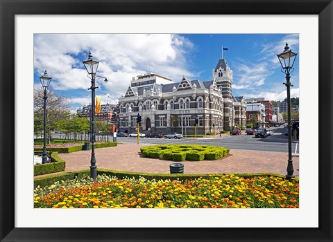 Framed Law Courts, Dunedin, South Island, New Zealand Print