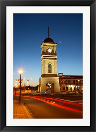 Framed New Zealand, North Island, Manawatu, Historic Clock Tower Print