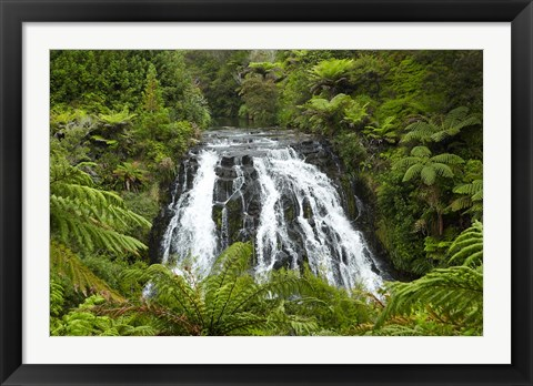 Framed Owharoa Falls, Karangahake Gorge, Waikato, North Island, New Zealand Print