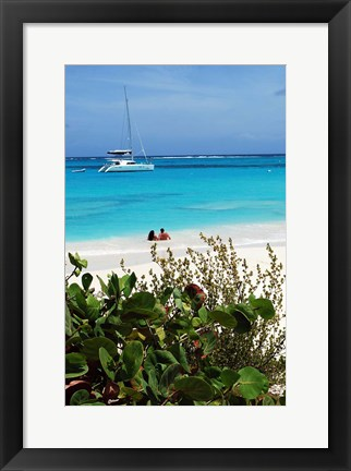 Framed Swimming the waters of Prickly Pear Island with Festiva Sailing Vacations Print