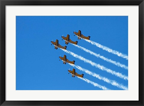 Framed Red Checkers Aerobatic Display Team with CT-4B Airtrainers Print