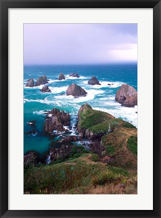Framed New Zealand, South Island, Nugget Point Print