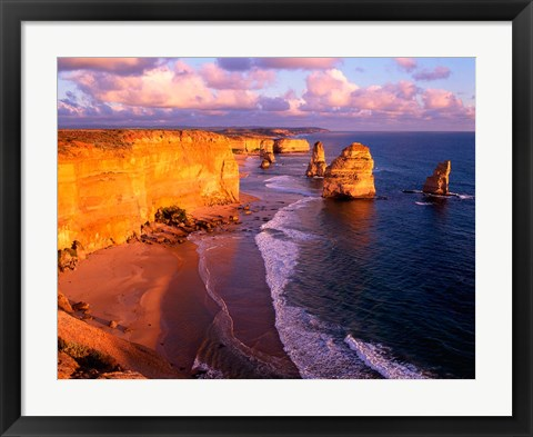 Framed Morning at 12 Apostles, Great Ocean Road, Port Campbell National Park, Victoria, Australia Print