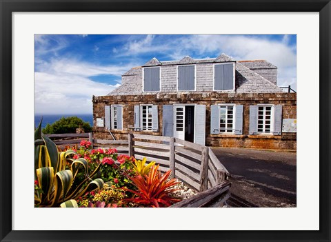Framed Shirley Heights, Antigua, West Indies, Caribbean Print