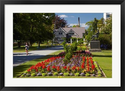 Framed Curator's House and Botanic Gardens, Hagley Park, Christchurch, South Island, New Zealand Print