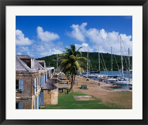 Framed Copper and Lumber Store, Antigua, Caribbean Print