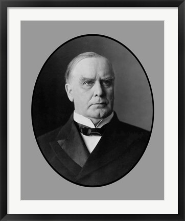 Framed President William McKinley, Jr Print