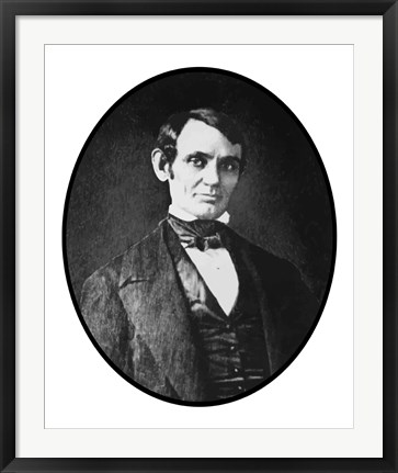 Framed Young Abraham Lincoln Print