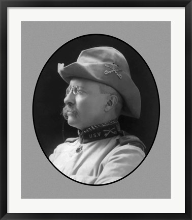 Framed Colonel Theodore Roosevelt (side profile) Print