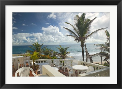 Framed View of Soup Bowl Beach, Bathsheba, Barbados, Caribbean Print