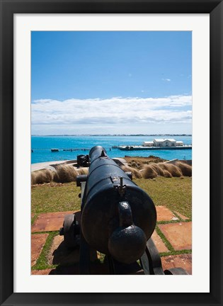 Framed Bermuda, Commissioners House, Royal Naval port Print