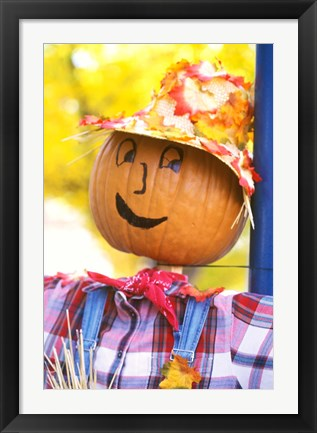 Framed WA, Chelan, Halloween holiday Scarecrow Print