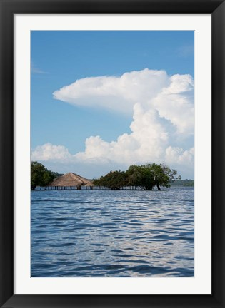 Framed Beach at height of the wet season, Alter Do Chao, Amazon, Brazil Print