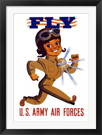 Framed Fly US Army Air Forces Print