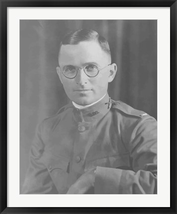 Framed Potrait of Harry S Truman in uniform Print