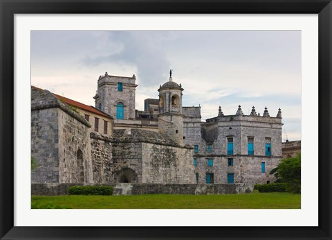 Framed El Morro Castle, fortification, Havana, UNESCO World Heritage site, Cuba Print