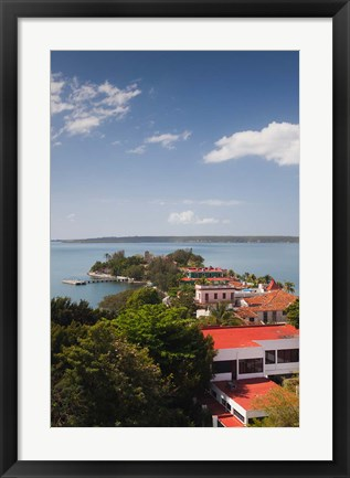 Framed Cuba, Cienfuegos, Punta Gorda, elevated view Print