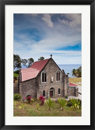 Framed Dominica, Roseau, Grand Bay Area, Berekua church Print
