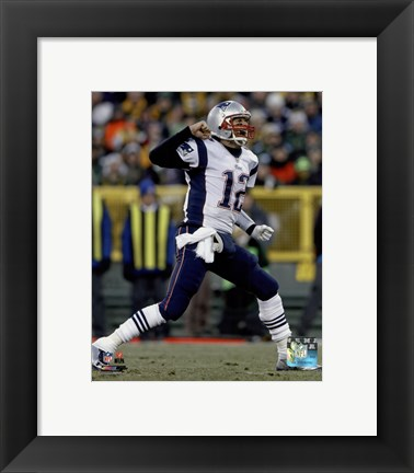 Framed Tom Brady 2014 victory Print
