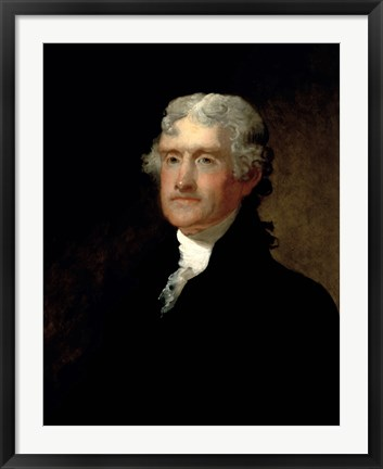 Framed Thomas Jefferson (color) Print