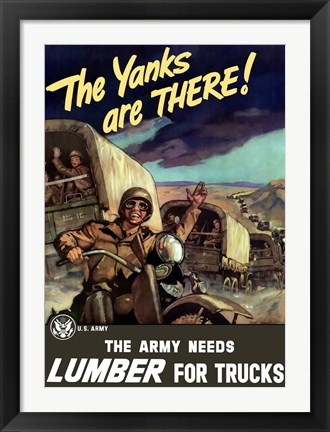 Framed Yanks Are Here! Print