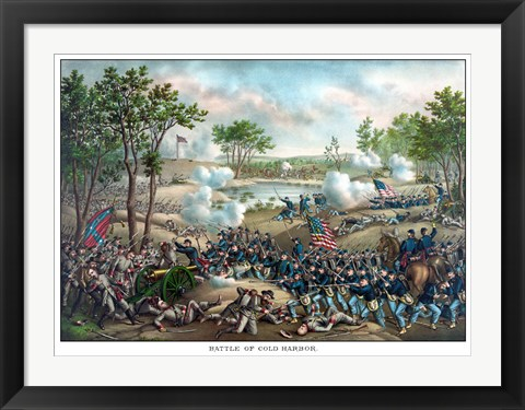 Framed Battle of Cold Harbor Print