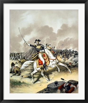 Framed General Andrew Jackson on Horseback Print