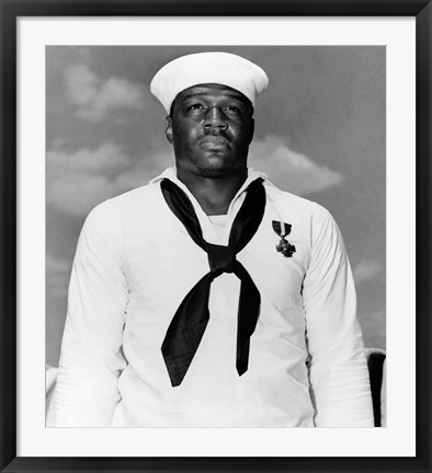 Framed Doris Dorie Miller, a Cook in the US Navy Print