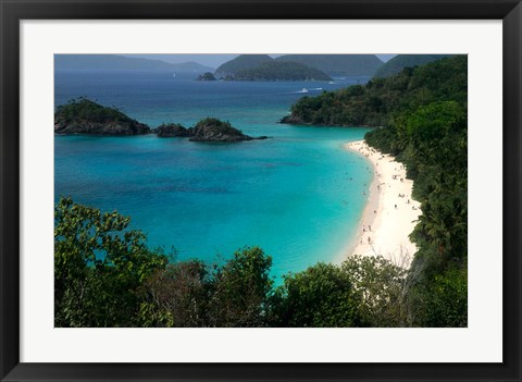 Framed Trunk Bay Beach, St Johns, US Virgin Islands Print
