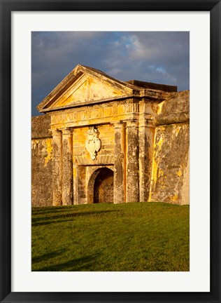 Framed El Morro Fort in old San Juan, Puerto Rico Print