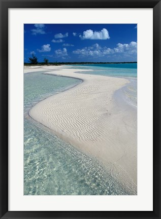 Framed Beach of Half Moon Bay, Turks and Caicos Print