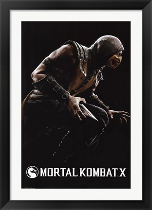Framed Mortal Kombat X - Scorpion Print