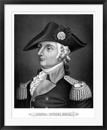 Framed General Mad Anthony Wayne (Revolutionary War) Print