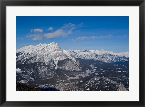Framed Alberta, Banff, River Valley, Sulphur Mountain Print