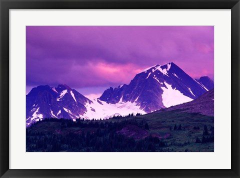 Framed Alberta, Canadian Rockies, Tonquin Valley landscapes Print