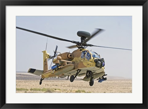 Framed AH-64D Saraph helicopter of the Israeli Air Force Print