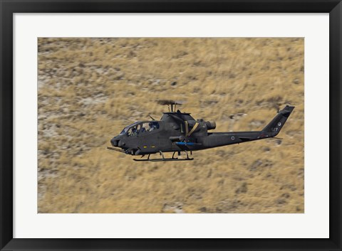 Framed AH-1F Tzefa of the Israeli Air Force flying over Israel Print