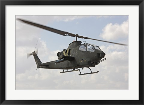 Framed AH-1S Tzefa attack helicopter of the Israeli Air Force Print