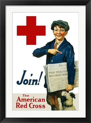 Framed Join the American Red Cross Print